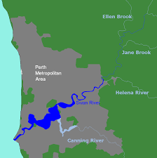 Highly Detailed River Map Of by Swan River Western Australia Wikipedia