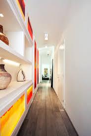 white lightbox gallery hallway interior design ideas