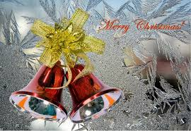 christmas jingle bells images with holly ribbon decorations photos