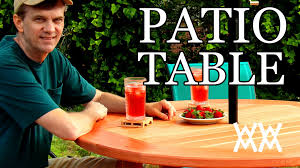 Plans For Making A Round Picnic Table by How To Make A Patio Table This Outdoor Table Is Easy To Build