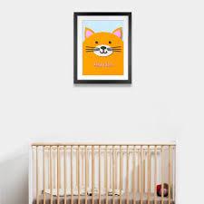 fuzzy felt kids name cat personalised wall art canvas fuzzy felt kids name cat personalised wall art