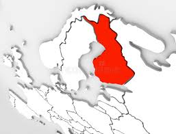 map of europe scandinavia finland abstract 3d map country europe scandinavian region stock