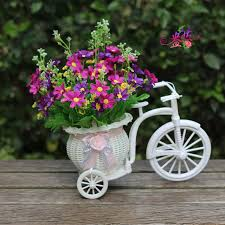 Free Shipping Flowers Free Shipping Flower Basket Small Wheel Tricycle And Flower