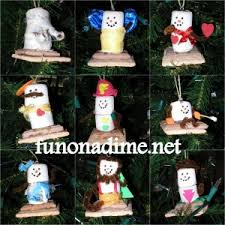 marshmallow snowman ornaments picture only