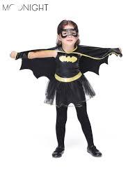 Batman Batgirl Halloween Costumes Aliexpress Buy Moonight Girls Batman Halloween Costumes