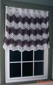 Chevron Pattern Curtains 8 Free Crochet Curtain Patterns