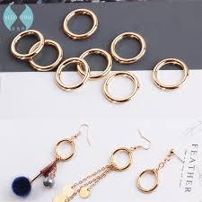 diy earring studs diy heavy alloy accessories handmade korean minimalist