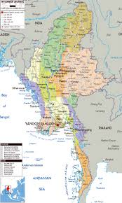 India Political Map by Maps Of Myanmar Burma Detailed Map Of Myanmar In English