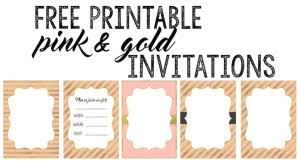 pink and gold baby shower invitations pink and gold free printables paper trail design
