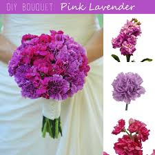 diy bouquet pink lavender wedding bouquet fiftyflowers the blog