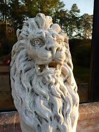 marble lions pair of 19th century marble lion statues for sale