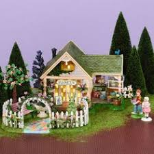 easter w dept 56 houses displayed w great detail