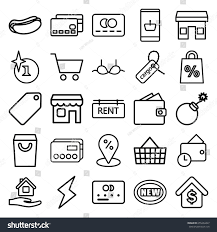 sale icons set set 25 sale stock vector 655264447 shutterstock sale icons set set of 25 sale outline icons such as credit card tag