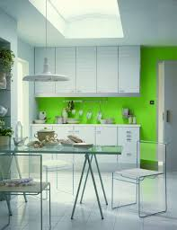 kitchen modern minimalist white and green kitchen with simple