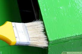 wood painting how to paint wood with pictures wikihow