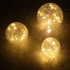 Commercial Led Light Strings by 45 Led Crackled Glass Balls String Fairy Light Starry Xmas Party