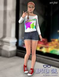 hipster girl hipster girl for genesis 2 female s 3d models and 3d software by