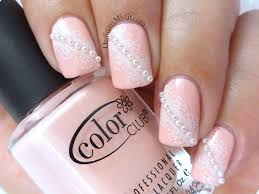 Nail Art Lace Design Best 25 Pearl Nail Art Ideas On Pinterest French Nails White