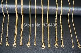 gold necklace styles images Free shipping 1 2mm 45cm girl women lady round snake chain gold jpg