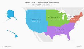 Wisconsin On Us Map by 2017 United States Speedtest Market Report