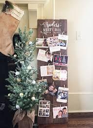 christmas card holder merry mail oversized 48 x 14 custom plank wood christmas card