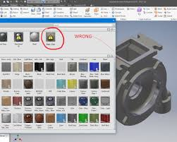inventor 2018 problems with material library and appearances