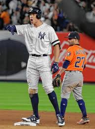 Aaron Judge Yankees Slugger Becomes Tallest Center Fielder - the long and short of it aaron judge jose altuve drive their teams