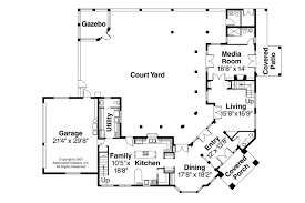 mediterranean floor plans with courtyard simple 2 house plan