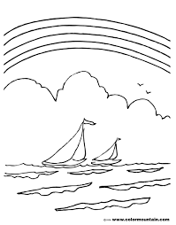 raibows and sail boat coloring create a printout or activity