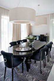 beautiful black and white dining room chairs in interior design