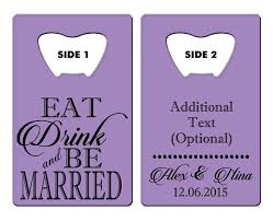 16 best customized wedding credit card size bottle opener favors