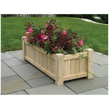 landscape ideas corner garden planter patio planter with wooden