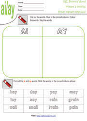 primary level 2 worksheets grade two vowel digraphs