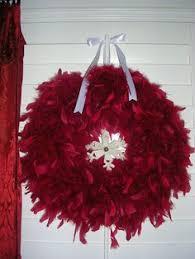 winter white feather wreath frugal homemaker diy crafts