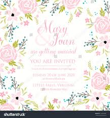 You Are Invited Card Wedding Invitation Card Stock Vector 143640328 Shutterstock