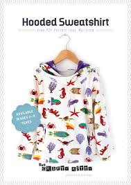 sewing tutorial and free pdf pattern hooded sweatshirt by the
