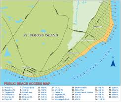 jekyll island map st simons island beaches east coast guard station