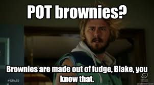 Blake Meme - pot brownies brownies are made out of fudge blake you know that