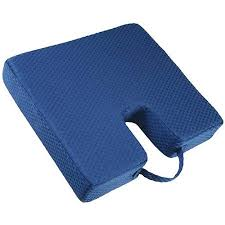 Orthopaedic Seat Cushion Carex Memory Foam Coccyx Seat Cushion Walmart Com