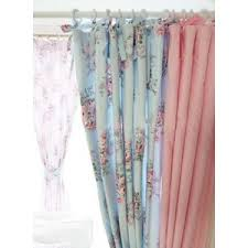 amazon com shabby chic blue rose and pink gingham with ties