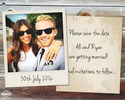 save the date wedding cards polaroid wedding save the date cards wedfest