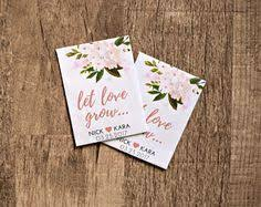 custom seed packets seed packet favors sign wedding seed packets sign succulent
