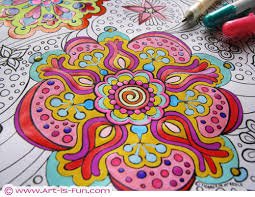 free abstract coloring print detailed psychedelic