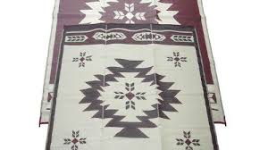 Awning Mats Fireside Patio Mats Navajo Breeze Burgundy And Beige 9 Ft X 12 Ft