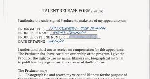 talent release form get liability release form template forms