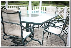 Sling Outdoor Chairs How To Paint Outdoor Furniture With Sling Seats Inmyownstyle
