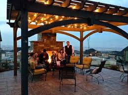 Timber Frame Pergola by Before U0026 After Timber Frame Pergola Over Outdoor Fire Pit