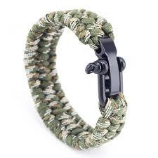 paracord braided bracelet images Triple braided stainless steel paracord bracelets 5 variants jpg