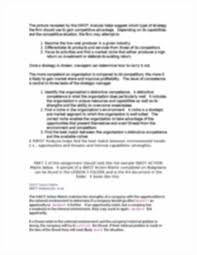 sample of swot analysis report swot analysis 1 swot analysis sometimes known as the wots up image of page 2