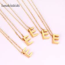 gold letter necklace pendants images Luxukisskids alphabet initial necklace gold letter necklace jpg